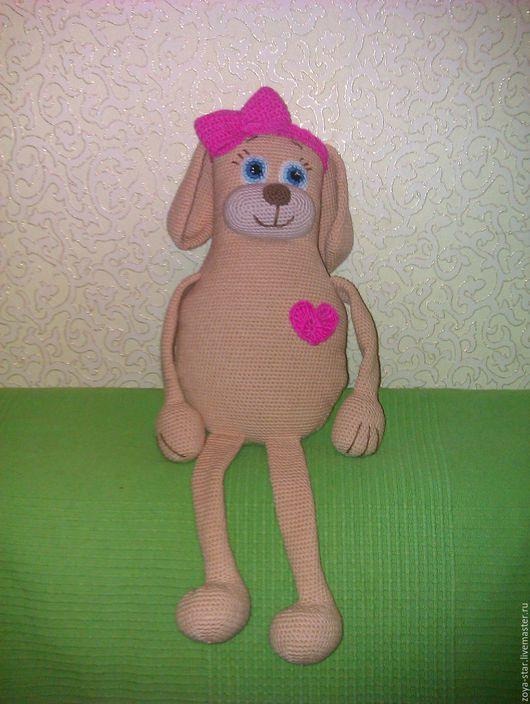 Игрушки животные, ручной работы. Ярмарка Мастеров - ручная работа. Купить Милая собачка. Handmade. Бежевый, собака вязаная