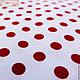 Шитье ручной работы. 0040 Хлопок Гороховая пара - Красный на белом. Cotton Story. Интернет-магазин Ярмарка Мастеров. детская