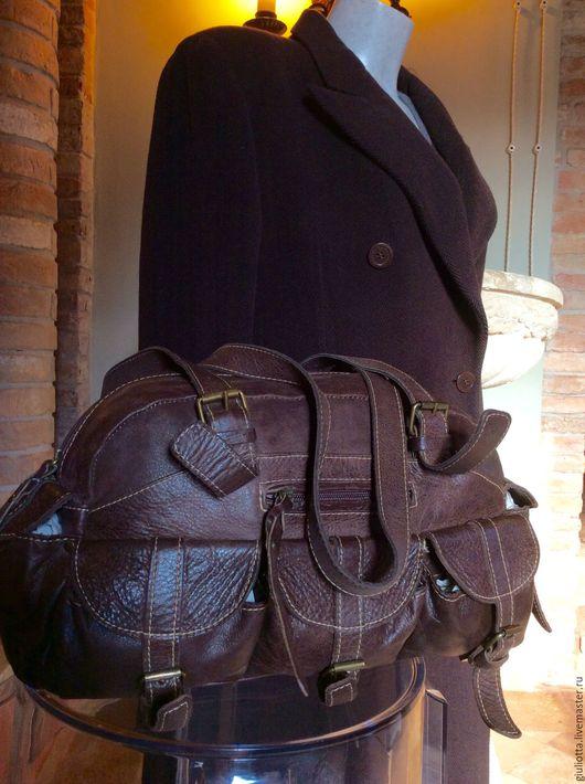 Винтажные сумки и кошельки. Ярмарка Мастеров - ручная работа. Купить Италия. Женская сумочка из натуральной кожи от бренда   CapoVersO. Handmade.