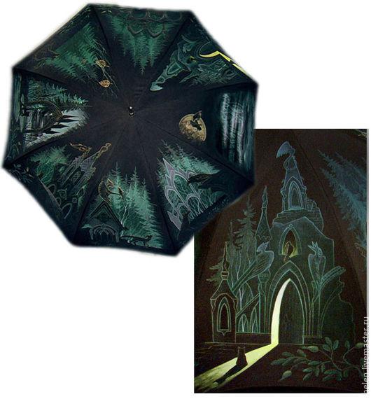 Зонты ручной работы. Ярмарка Мастеров - ручная работа. Купить Очень готичный зонт. Handmade. Черный, ночь, путешествие