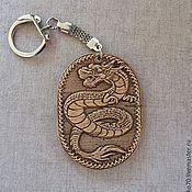 Аксессуары handmade. Livemaster - original item Keychain made of birch bark