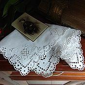 Винтаж ручной работы. Ярмарка Мастеров - ручная работа Старинный дамский платочек с монограммой 2. Handmade.