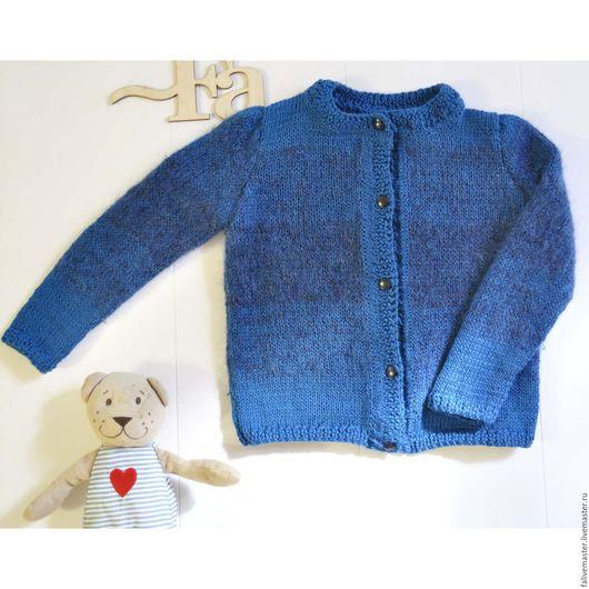 Одежда для девочек, ручной работы. Ярмарка Мастеров - ручная работа. Купить Кофточка для девочки. Handmade. Синий, зима, детская кофточка