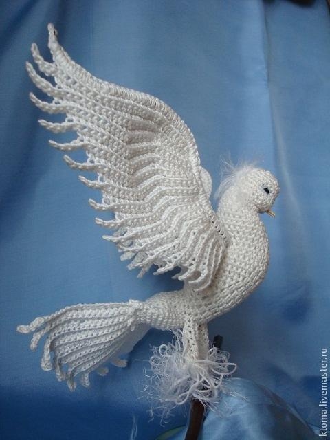 Голуби из ниток своими руками