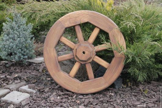 Экстерьер и дача ручной работы. Ярмарка Мастеров - ручная работа. Купить Декоративное колесо. Handmade. Коричневый, колесо для тележки, кедр