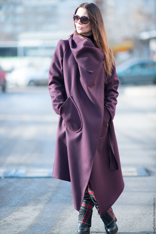 a03f51b7482 Пальто из кашемира. Пальто с карманами. Пальто с поясом. Модное пальто  купить.