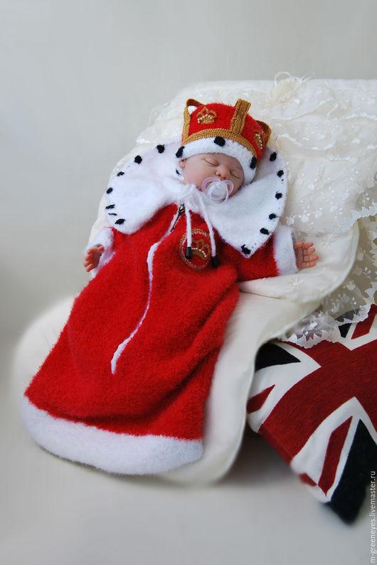 """Для новорожденных, ручной работы. Ярмарка Мастеров - ручная работа. Купить Комплект """"Царский подарок"""". Handmade. Конверт"""