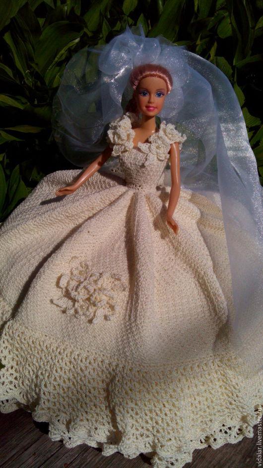 Одежда для кукол ручной работы. Ярмарка Мастеров - ручная работа. Купить Кремовое свадебное платье. Handmade. Кремовый, хлопок 100%