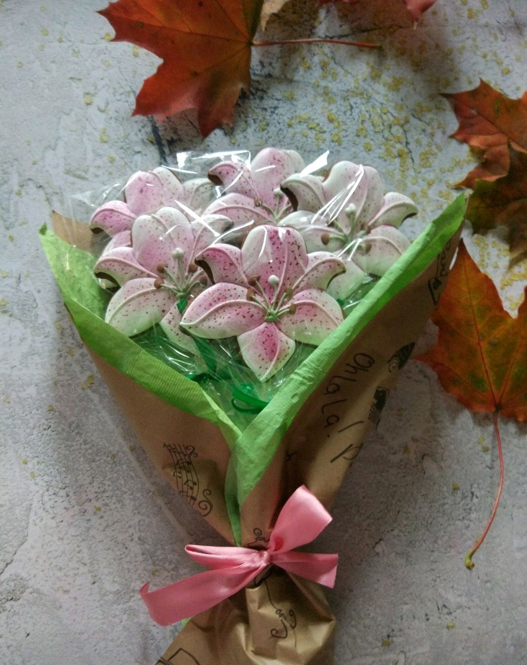 Букет цветов, Пряники, Москва,  Фото №1