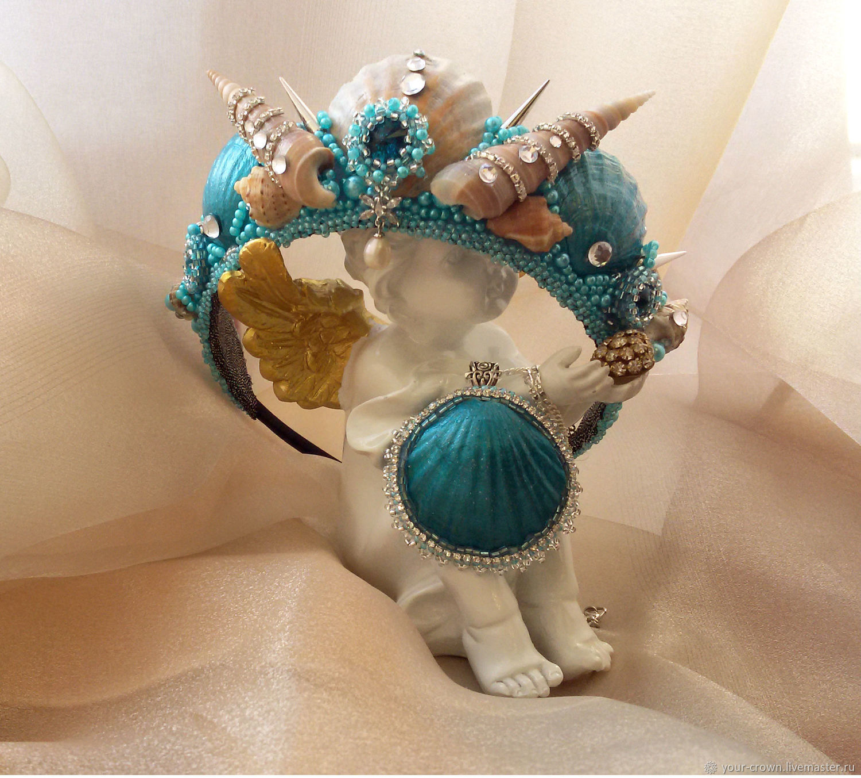 Crown mermaid made of shells, Tiaras, Rostov-on-Don,  Фото №1