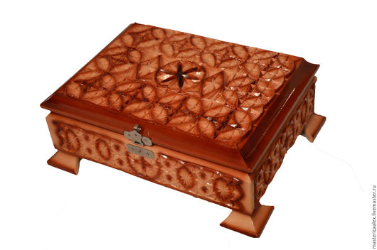 Шкатулки ручной работы. Ярмарка Мастеров - ручная работа. Купить Шкатулка деревянная резная ручной работы. Handmade. Коричневый
