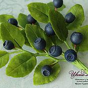 Украшения handmade. Livemaster - original item Brooch with blueberries
