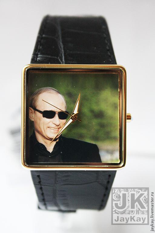 """Часы ручной работы. Ярмарка Мастеров - ручная работа. Купить Часы наручные JK """"Путин"""". Handmade. Часы ручной работы"""