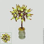 Цветы и флористика handmade. Livemaster - original item Amber tree health in a vase of onyx. Handmade.