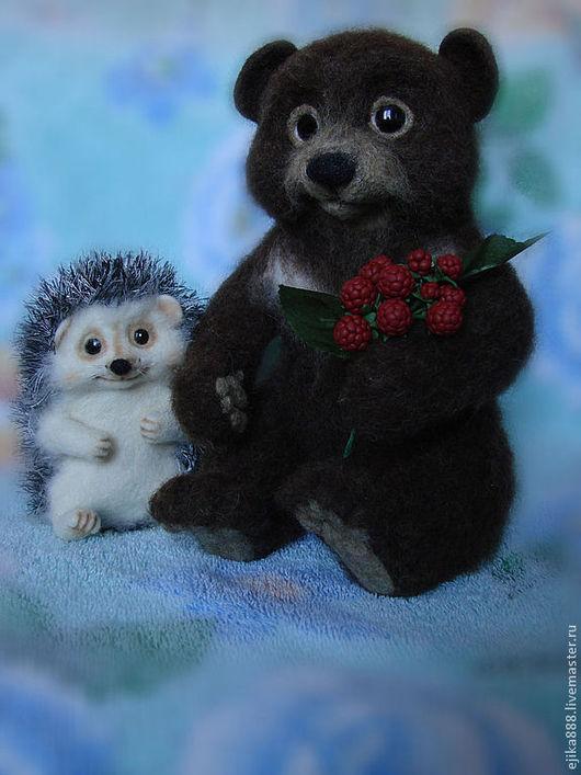 Игрушки животные, ручной работы. Ярмарка Мастеров - ручная работа. Купить Медвежонок Топтыжка и Моня.. Handmade. Медвежонок, коричневый