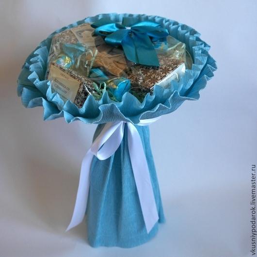 """Подарочные наборы ручной работы. Ярмарка Мастеров - ручная работа. Купить Букет """"Дуновение ветра"""". Handmade. Голубой, подарок коллеге"""