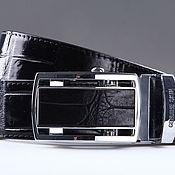 Аксессуары handmade. Livemaster - original item Crocodile leather belt IMA3008B. Handmade.