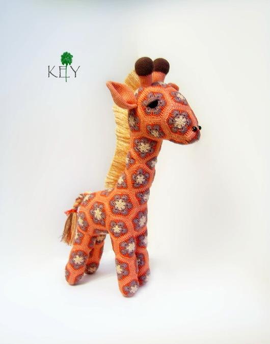 Игрушки животные, ручной работы. Ярмарка Мастеров - ручная работа. Купить Жираф Бока. Handmade. Оранжевый, вязаная игрушка
