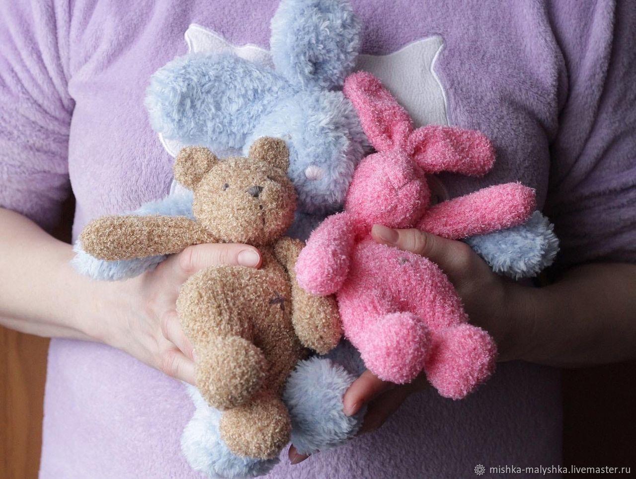 Мишка - первая игрушка малыша, Мягкие игрушки, Москва,  Фото №1