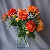 Цветы и флористика ручной работы. Ярмарка Мастеров - ручная работа розы английского сада (флористические полимерные глины). Handmade.
