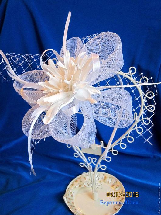 Свадебные украшения ручной работы. Ярмарка Мастеров - ручная работа. Купить ободок свадебный. Handmade. Белый, свадебные аксессуары