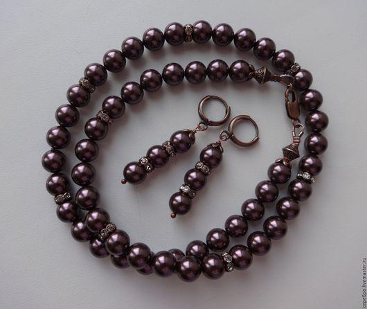 Ожерелье `Шоколадка`, цена 1360р. Серьги `Шоколадка`, цена 430р.