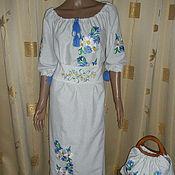 """Одежда ручной работы. Ярмарка Мастеров - ручная работа платье """"льняное поле"""". Handmade."""
