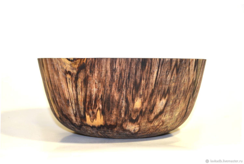 Точеная чаша из шпальтированной березы (16х7)