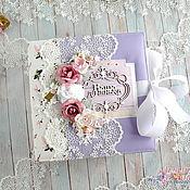 Фотоальбомы ручной работы. Ярмарка Мастеров - ручная работа Фотоальбом для новорожденной девочки с зайками. Handmade.