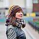 снуд вязаный, шапка вязаная, комплект аксессуаров, теплый шарф, шарф из натуральной шерсти, 100% шерсть, снуд на два оборота, подарок ручной работы, ручная работа, вяжу тепло, шапка вязаная женская, ш