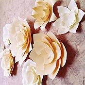 Свадебный салон ручной работы. Ярмарка Мастеров - ручная работа Цветы из бумаги для декорирования стены. Handmade.