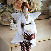 Куклы и игрушки ручной работы. Ярмарка Мастеров - ручная работа Банный ангел с ватными палочками. Handmade.
