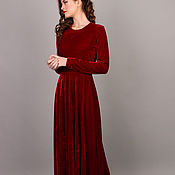 Одежда handmade. Livemaster - original item Velvet Christmas dress. Handmade.