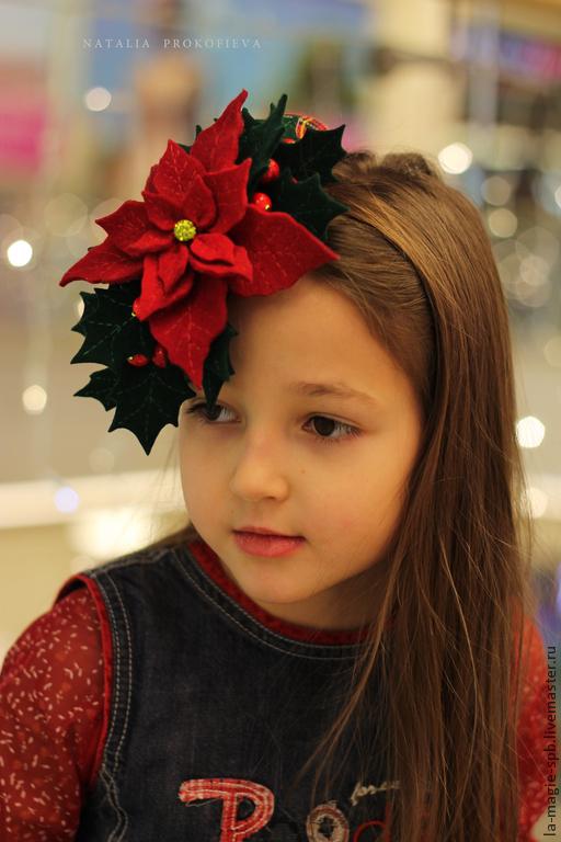 """Шляпы ручной работы. Ярмарка Мастеров - ручная работа. Купить Коктейльная шляпка """"L'etoile de Noel"""" (Рождественская звезда). Handmade."""