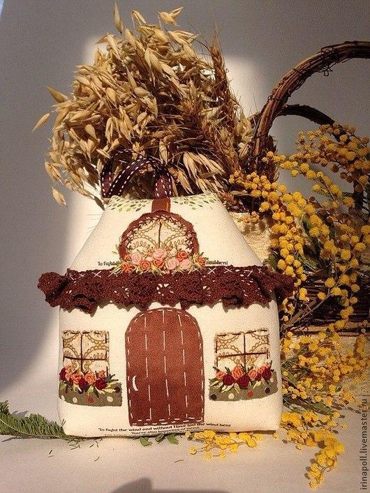 Подвески ручной работы. Ярмарка Мастеров - ручная работа. Купить Счастливый домик. Handmade. Бежевый, сувениры и подарки