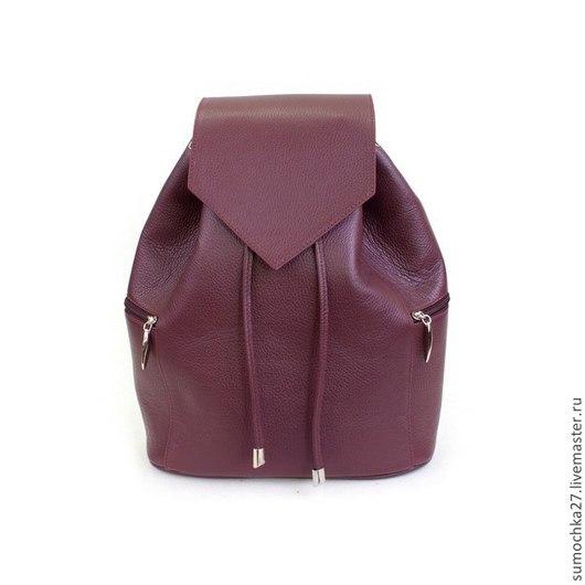 """Рюкзаки ручной работы. Ярмарка Мастеров - ручная работа. Купить Рюкзак женский """"Изящность"""". Handmade. Коричневый, рюкзак, натуральная кожа"""