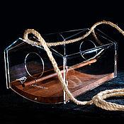 Для дома и интерьера handmade. Livemaster - original item A bird feeder made of wood and acrylic pendant Ark - Terem. Handmade.