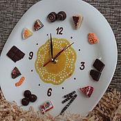 """Для дома и интерьера ручной работы. Ярмарка Мастеров - ручная работа Часы настенные """"Сладкоежка"""" (часы кухонные). Handmade."""