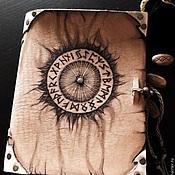 """блокнот-книга для записей из натуральной толстой кожи """"Рунник"""""""