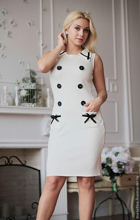 """Платья ручной работы. Ярмарка Мастеров - ручная работа. Купить Платье """"Круиз"""". Handmade. Белый, платье для офиса"""