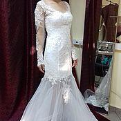 Свадебный салон handmade. Livemaster - original item Lace mermaid wedding dress.. Handmade.