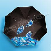 Аксессуары handmade. Livemaster - original item Folding umbrella, umbrella-cane patterned Cats in space. Handmade.