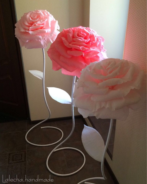 Гигантские цветы из гофрированной бумаги цветы