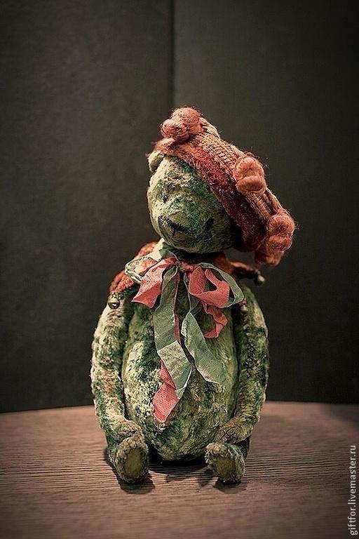 Мишки Тедди ручной работы. Ярмарка Мастеров - ручная работа. Купить Скоморох. Handmade. Морская волна, антикварный плюш