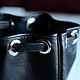 Рюкзаки ручной работы. Простой кожаный рюкзачок / на одно плечо. Снежана Соловей. Ярмарка Мастеров. Шнур, сумка