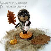 Куклы и игрушки handmade. Livemaster - original item hedgehog in the fog – miniature, interior arrangement / hedgehog felted. Handmade.