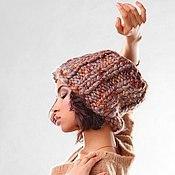 Шапки ручной работы. Ярмарка Мастеров - ручная работа Бежево- коричневая шапочка. Handmade.