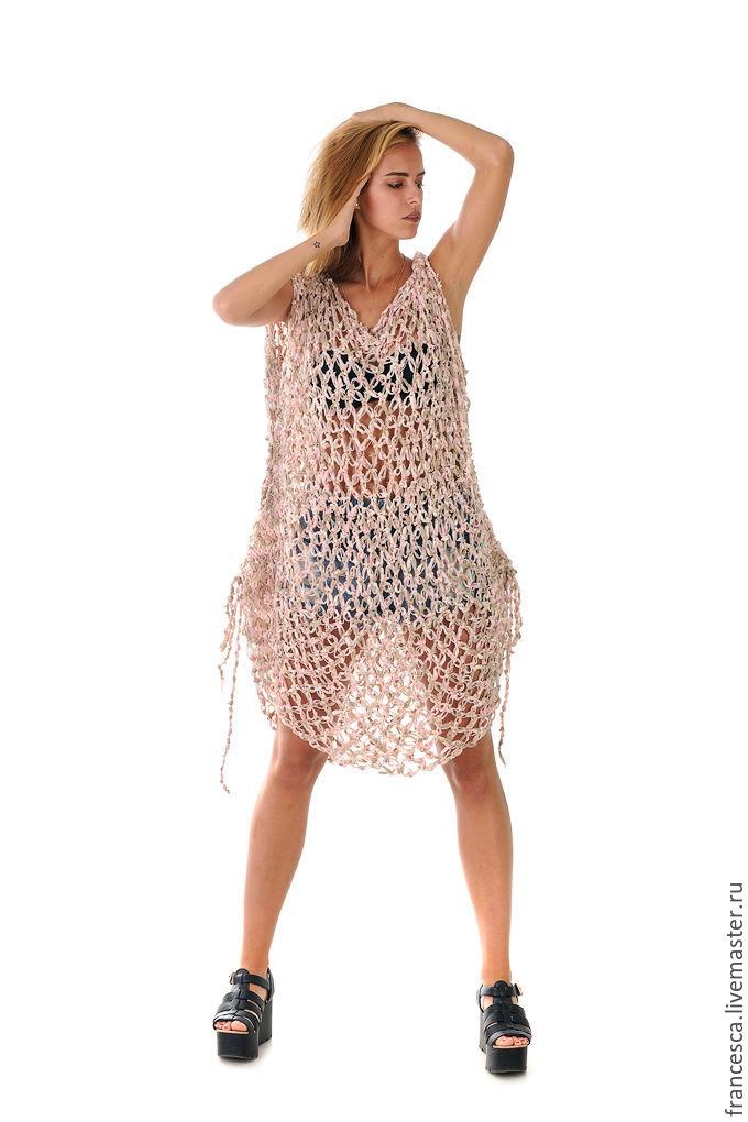 Вязаные платья сеткой