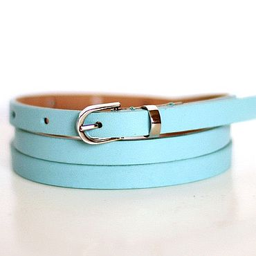 Accessories handmade. Livemaster - original item Copy of Copy of Leather blue belt. Handmade.