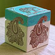"""Для дома и интерьера ручной работы. Ярмарка Мастеров - ручная работа шкатулка """"индийский слоник"""". Handmade."""